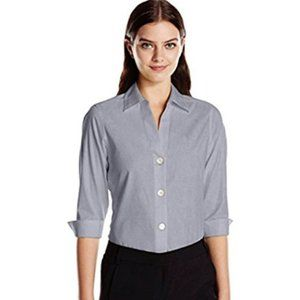 Foxcroft NYC Non Iron Button Up Shirt Gray | XXL